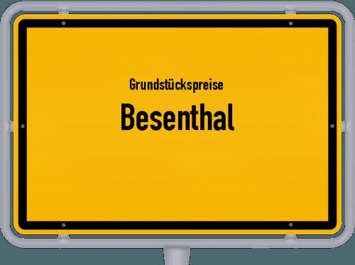 Grundstückspreise Besenthal 2021
