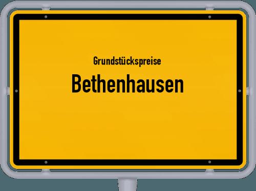 Grundstückspreise Bethenhausen 2019