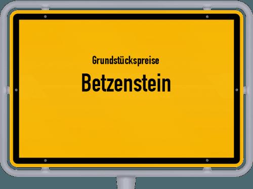 Grundstückspreise Betzenstein 2019