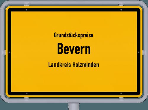 Grundstückspreise Bevern (Landkreis Holzminden) 2021