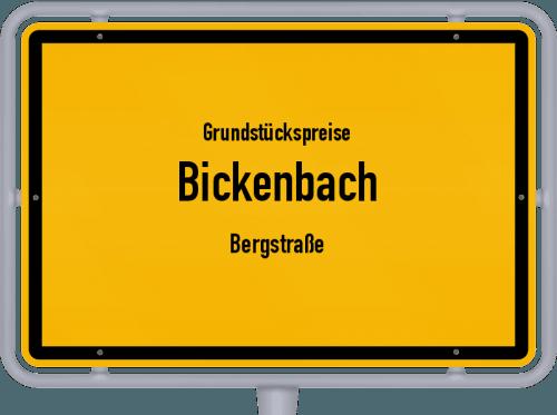 Grundstückspreise Bickenbach (Bergstraße) 2018