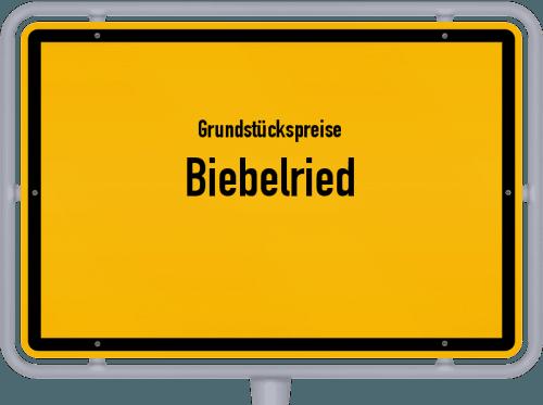 Grundstückspreise Biebelried 2019