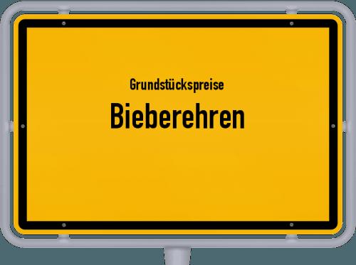 Grundstückspreise Bieberehren 2021