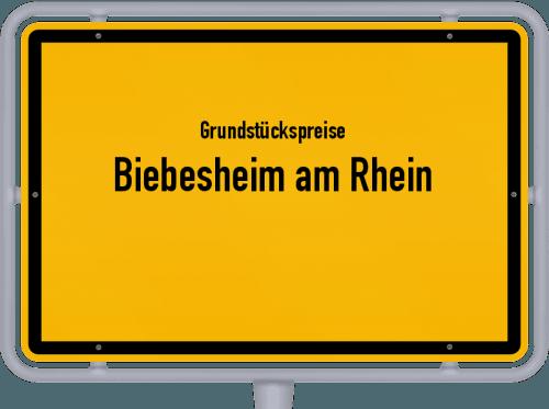 Grundstückspreise Biebesheim am Rhein 2018