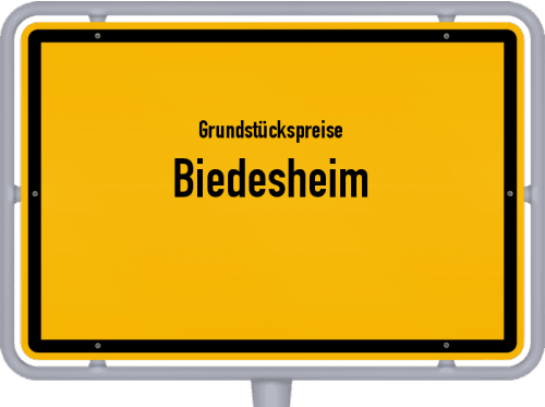 Grundstückspreise Biedesheim 2019