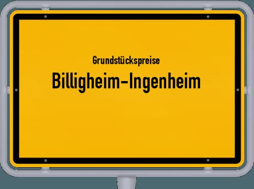 Grundstückspreise Billigheim-Ingenheim 2019