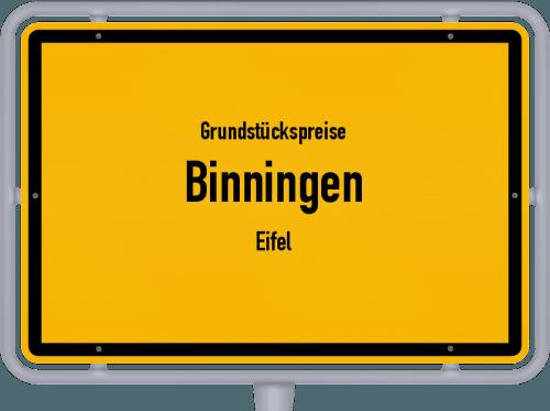 Grundstückspreise Binningen (Eifel) 2019
