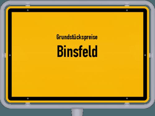 Grundstückspreise Binsfeld 2019