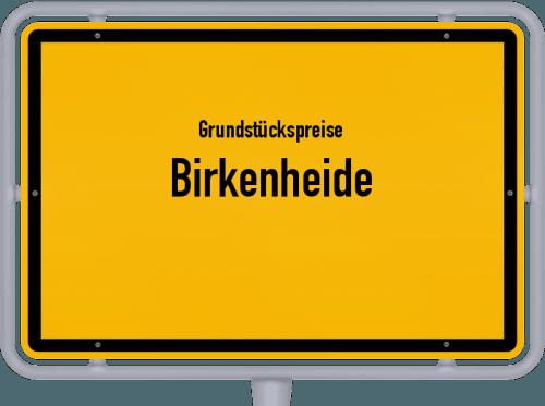 Grundstückspreise Birkenheide 2019