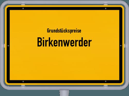 Grundstückspreise Birkenwerder 2021