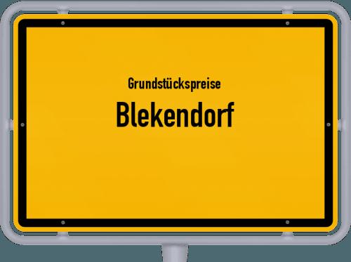 Grundstückspreise Blekendorf 2021
