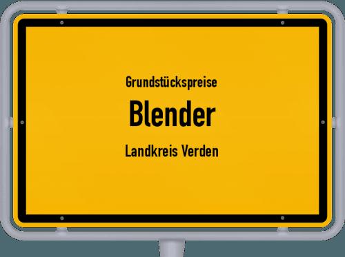 Grundstückspreise Blender (Landkreis Verden) 2021