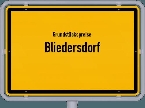 Grundstückspreise Bliedersdorf 2021