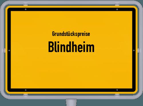 Grundstückspreise Blindheim 2019