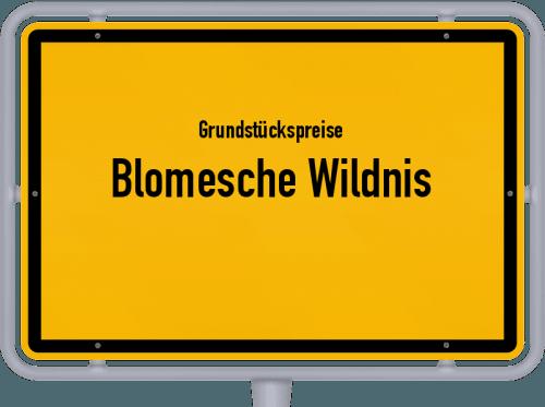 Grundstückspreise Blomesche Wildnis 2021