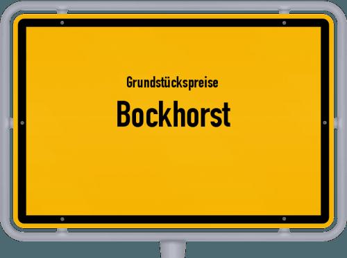 Grundstückspreise Bockhorst 2021
