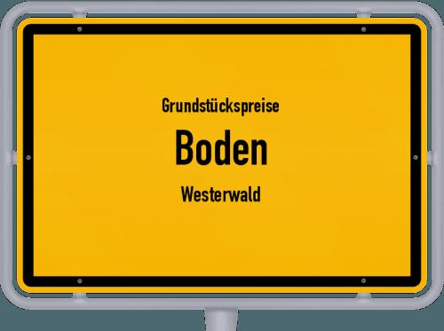 Grundstückspreise Boden (Westerwald) 2019