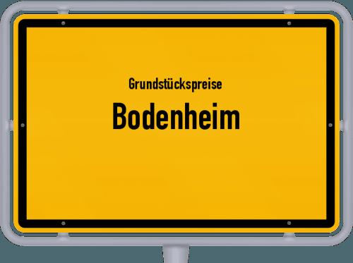 Grundstückspreise Bodenheim 2019