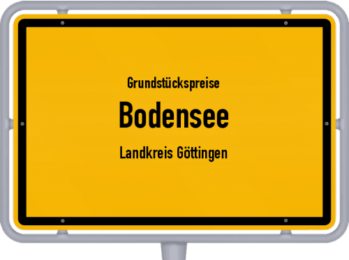 Grundstückspreise Bodensee (Landkreis Göttingen) 2021