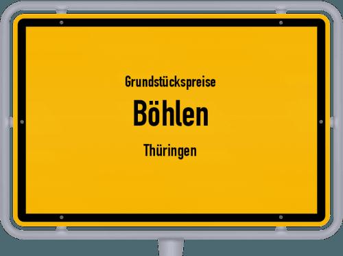 Grundstückspreise Böhlen (Thüringen) 2019