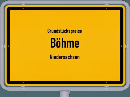 Grundstückspreise Böhme (Niedersachsen) 2019