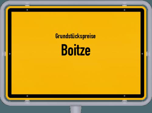 Grundstückspreise Boitze 2019