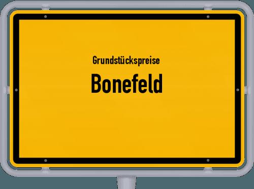 Grundstückspreise Bonefeld 2019