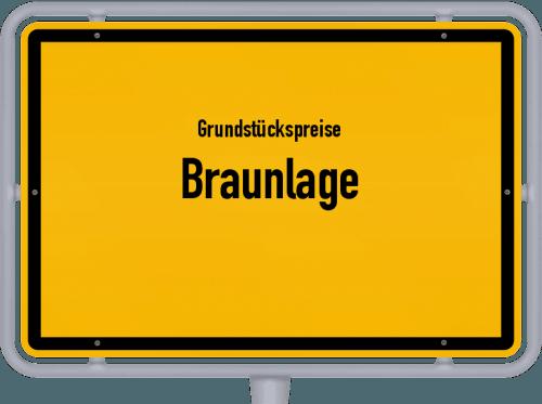 Grundstückspreise Braunlage 2019