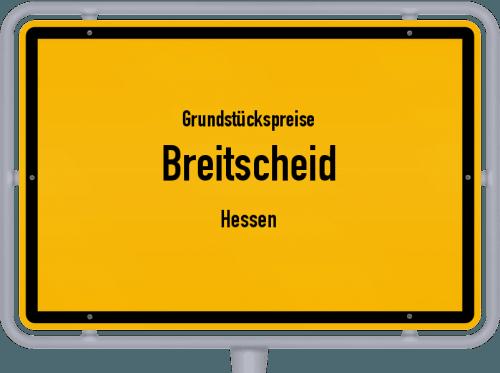 Grundstückspreise Breitscheid (Hessen) 2018