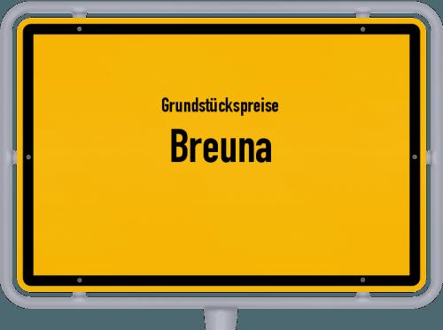 Grundstückspreise Breuna 2020
