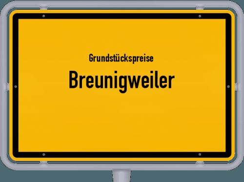 Grundstückspreise Breunigweiler 2019