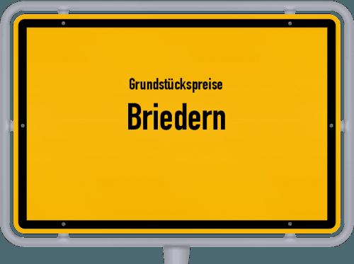 Grundstückspreise Briedern 2019