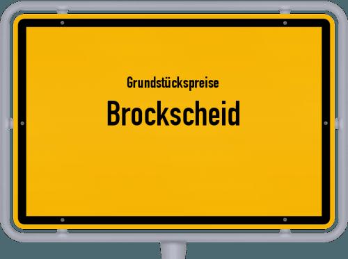 Grundstückspreise Brockscheid 2019