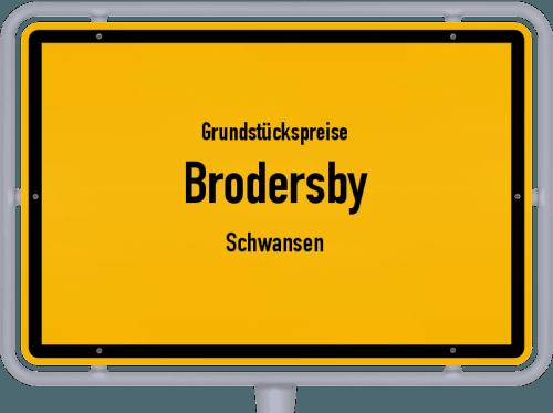 Grundstückspreise Brodersby (Schwansen) 2021