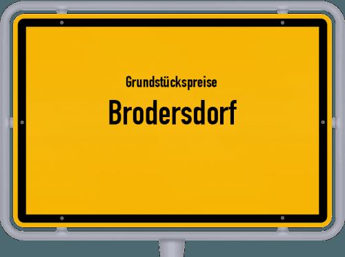 Grundstückspreise Brodersdorf 2021