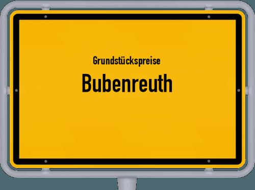 Grundstückspreise Bubenreuth 2019