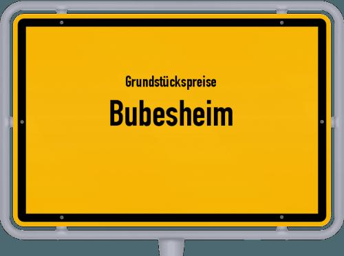 Grundstückspreise Bubesheim 2021