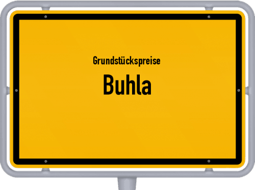 Grundstückspreise Buhla 2019