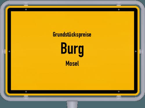 Grundstückspreise Burg (Mosel) 2019
