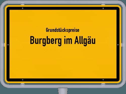 Grundstückspreise Burgberg im Allgäu 2019