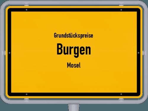 Grundstückspreise Burgen (Mosel) 2019
