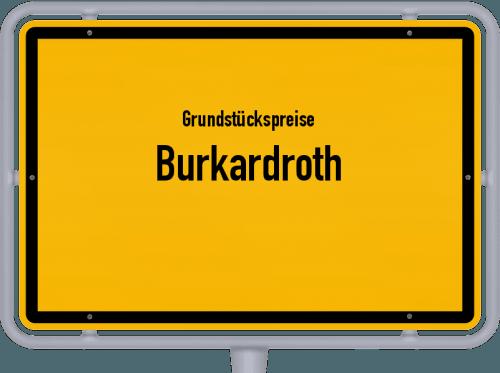 Grundstückspreise Burkardroth 2021