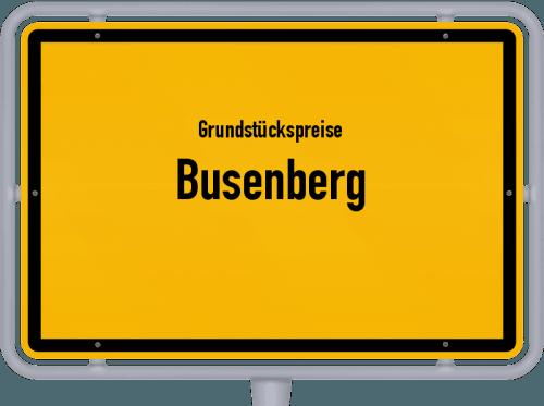 Grundstückspreise Busenberg 2019