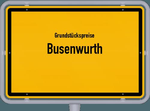 Grundstückspreise Busenwurth 2021