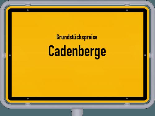 Grundstückspreise Cadenberge 2019