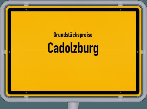 Grundstückspreise Cadolzburg 2019