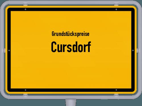 Grundstückspreise Cursdorf 2019