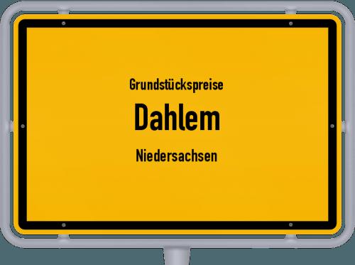 Grundstückspreise Dahlem (Niedersachsen) 2021