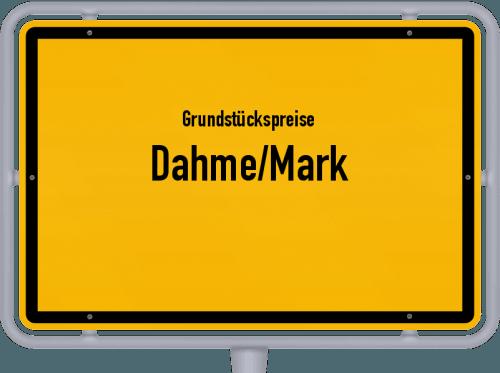 Grundstückspreise Dahme/Mark 2021