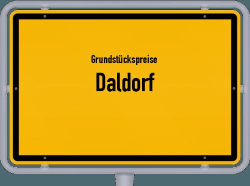 Grundstückspreise Daldorf 2021